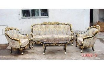 American Clical Living Room Furniture European Antique Sofa Sets Three Seat Double Hand Carved Moq 1set View