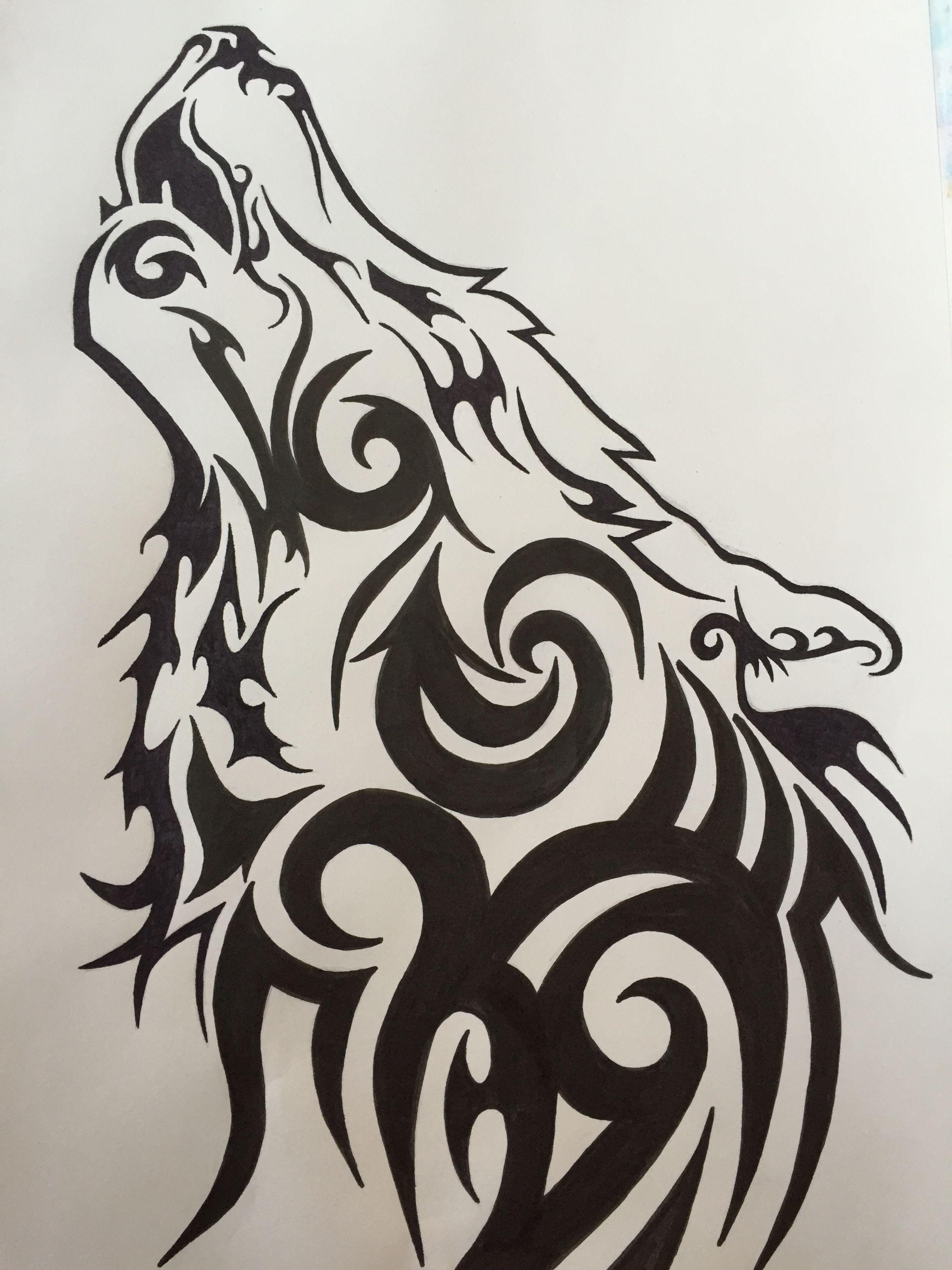 Wolf Tribal Tribal Wolf Tribal Drawings Tribal Wolf Tattoo