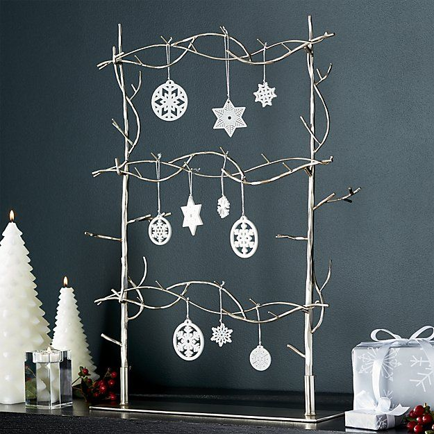 Free Shipping Shop Branch Ornament Tree Silvery Branches Fashion This Contemporary Ornament T Tree Ornaments Christmas Tree Ornaments Christmas Decorations