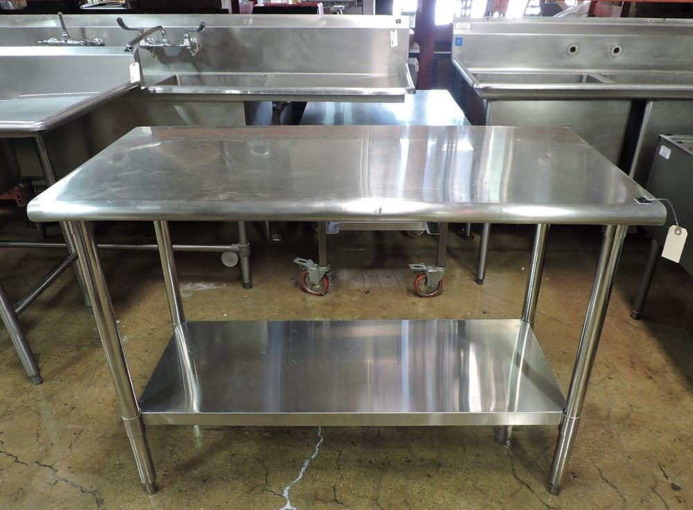 Commercial Stainless Steel Work Table With Undershelf Stainless