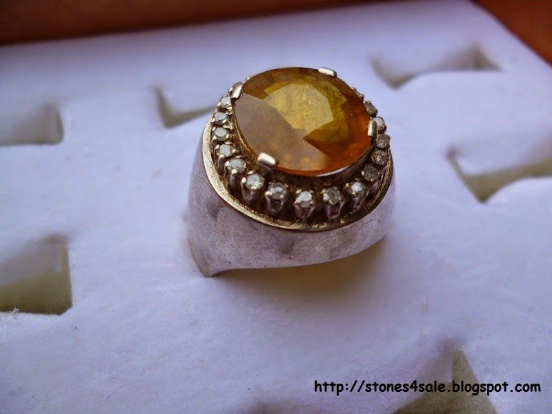 Gems and Precious Stones: Yellow Topaz With Diamonds
