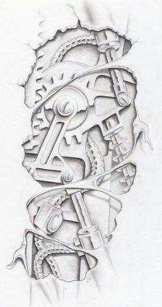 biomechanical graphite by markfellows on deviantART gears ...