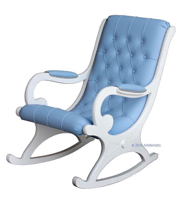 Schöner Schaukelstuhl Weiß, Verfügbar Aber In Vielen Farben, Bequem Und  Erstklassig. Für Entspannung Mit Stil. Dieser Stuhl Macht Einzeln Jeden  Wohnungsraum