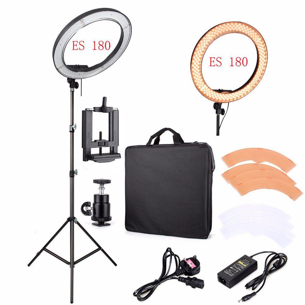 Led Anneau De Lumière Pour Appareil Photo Studio Téléphone Vidéo 12 55 W 5500 K Photographie Dimmab Ring Light For Camera Led Ring Light Ring Light For Makeup