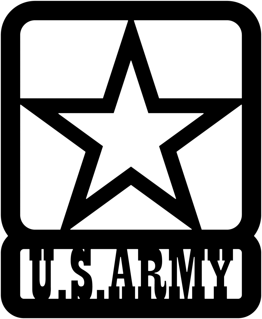 US ARMY Star DXF File Dxf files cnc, Army, Cricut
