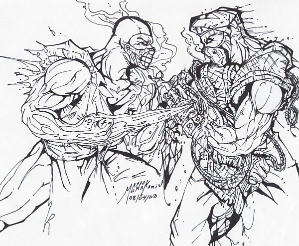scorpion from mortal kombat coloring pages  coloring