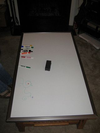 DIY Dry Erase Tabletop Turns Any Table Into A Polished Whiteboard   Gallery