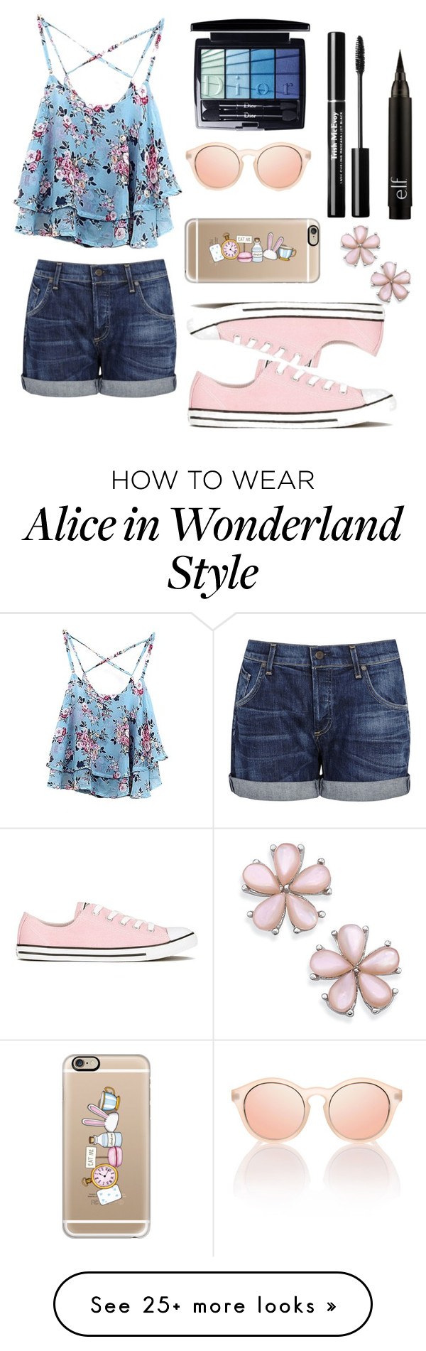 """Spring into summer look!"" by andreita02 on Polyvore featuring WithChic, Citizens of Humanity, Converse, Christian Dior, Le Specs and Casetify"