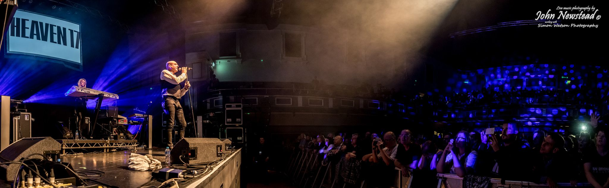 https://flic.kr/p/Cz7SkK | Heaven 17 (pano) | Heaven 17 at the Steve Strange Memorial Post Christmas Party at Parr Hall, Warrington on Saturday 24th January 2016. ©John Newstead working with Simon Watson Photography