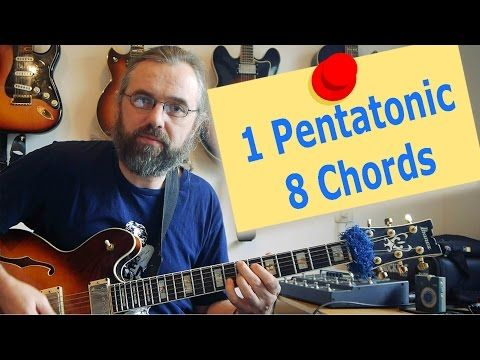 1 Pentatonic Scale Over 8 Chords Jazz Guitar Lesson Youtube
