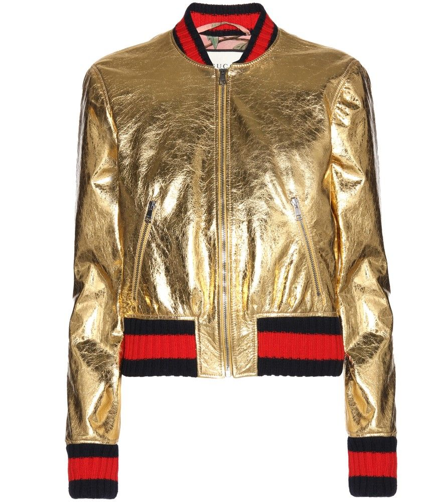 8e8e039aa Gucci - Metallic leather bomber jacket - Gucci doesn't do anything ...