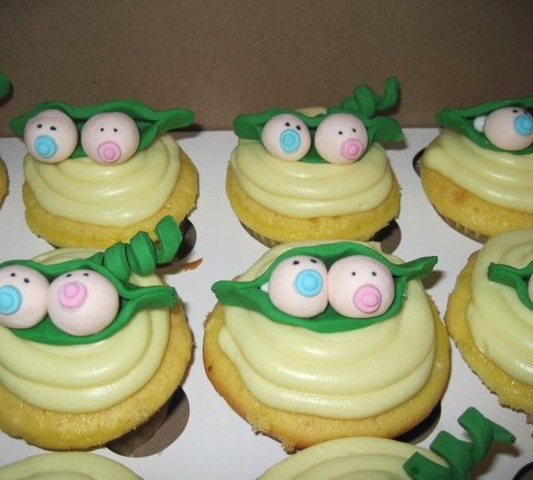 Two Peas In A Pod Twins Baby Shower Baby Shower Cakes Shower Cakes Girl Shower Cupcakes