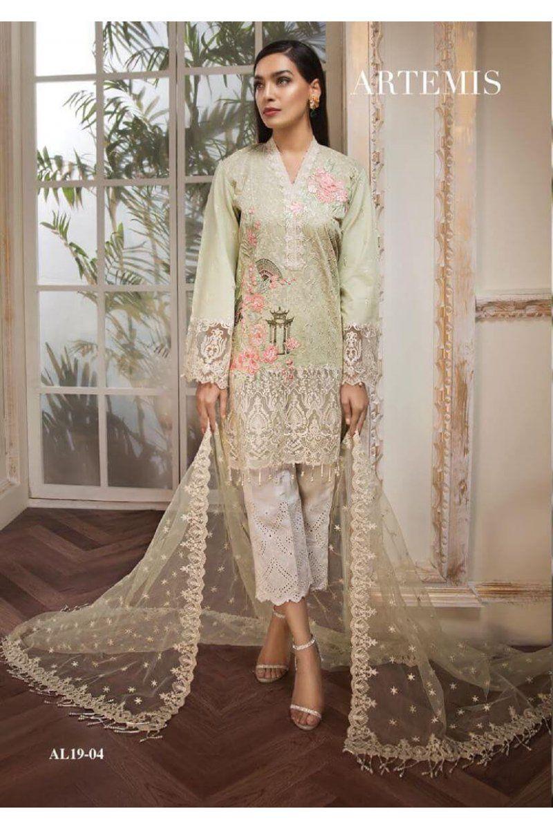 a91825a434 Anaya Luxury Lawn 2019 Ete De L'amour Pakistani Salwar Kameez 04 in ...