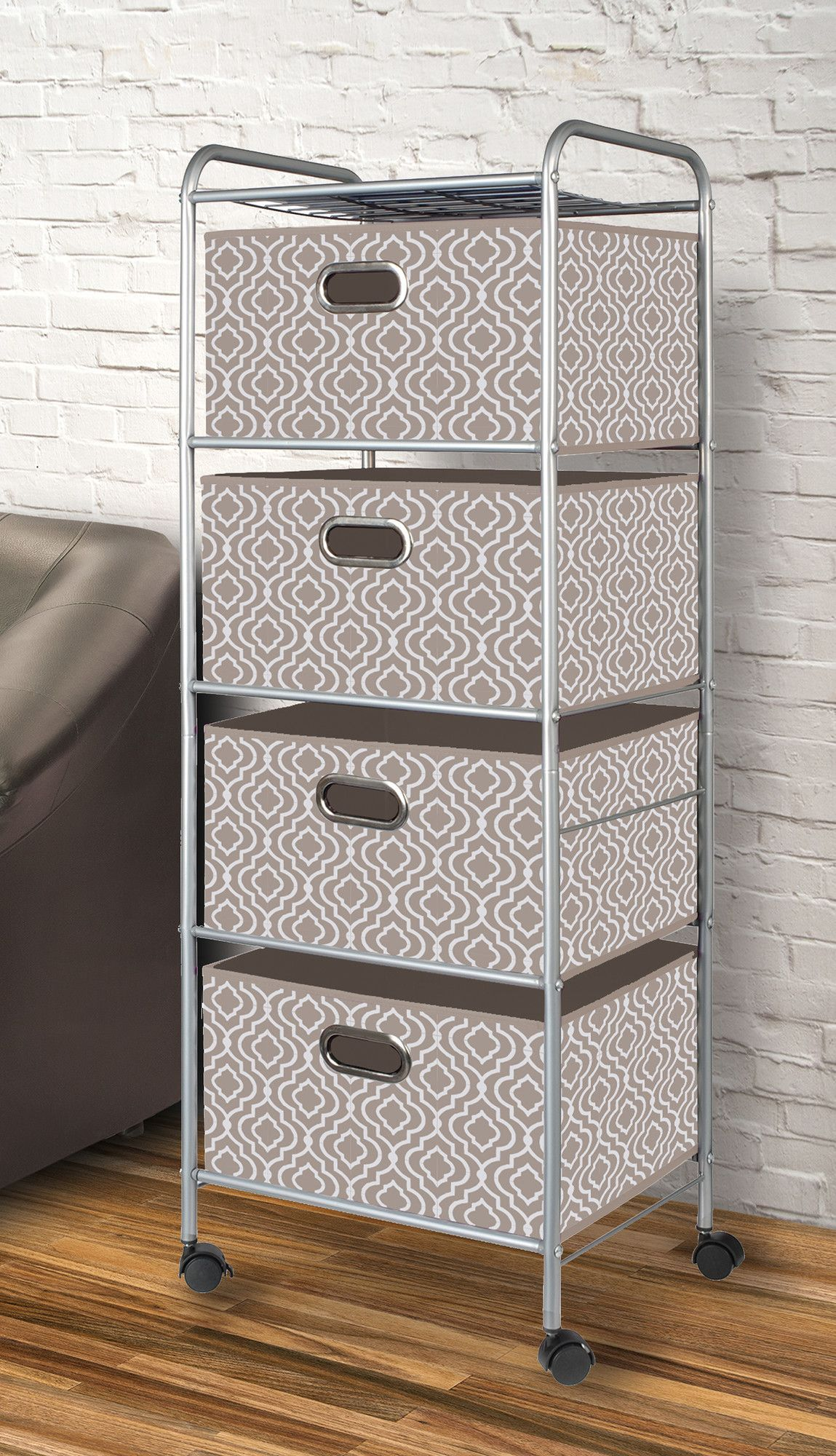 4 Drawer Fabric Cart