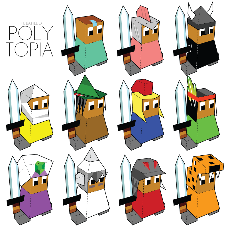 """""""The Battle of Polytopia"""" Paper Foldables set for Midjiwan"""