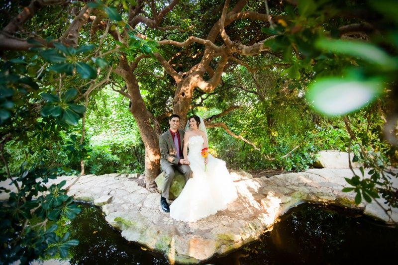 Zilker Botanical Garden Wedding.