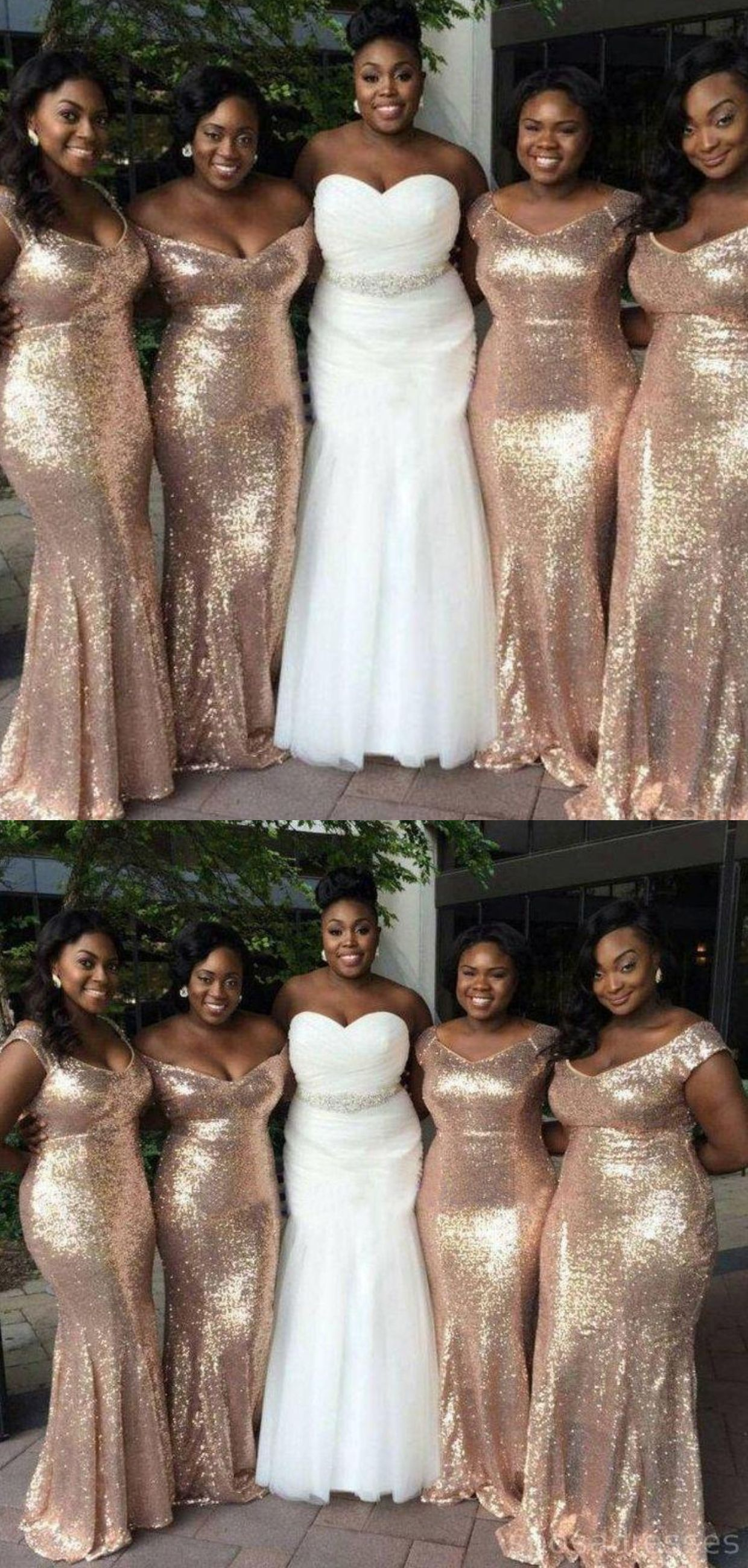 Sparkly Gold Sequin Mismatched Custom Long Bridesmaid Dresses Bd114 Beach Wedding Gown Mermaid Bridesmaid Dresses Bridesmaid Dresses 2018 [ 2600 x 1240 Pixel ]