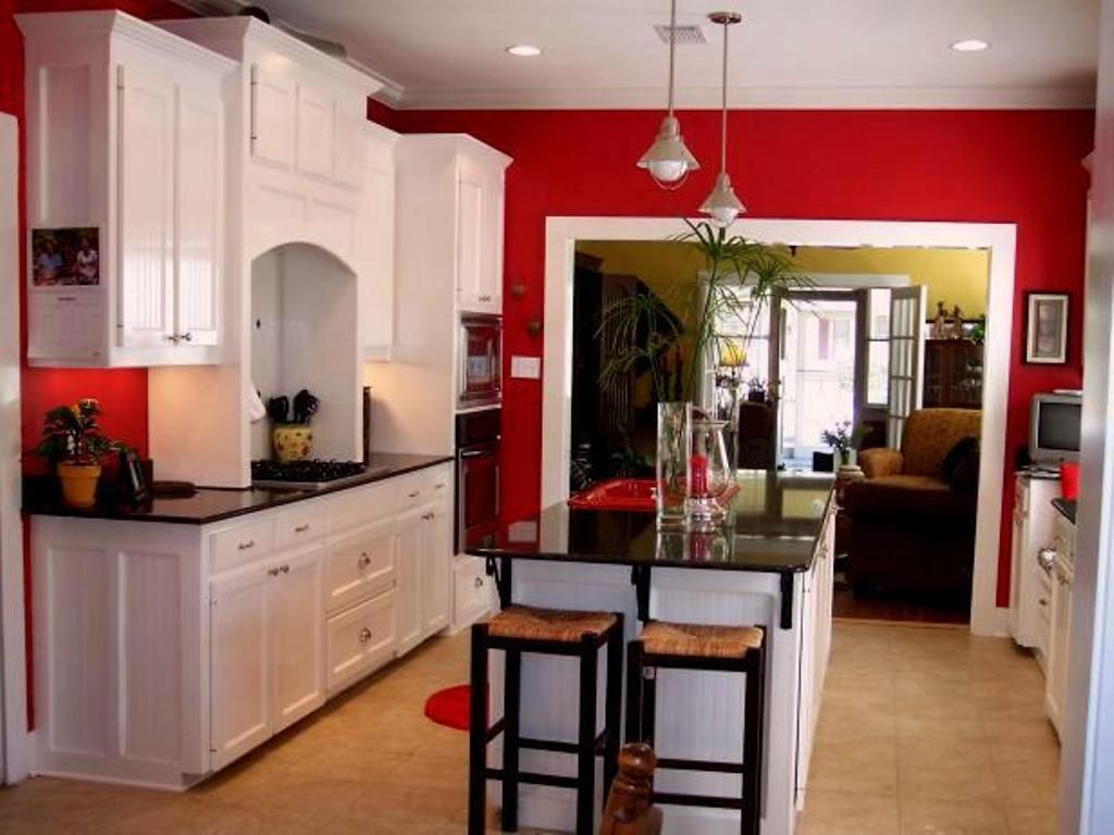 red, white and black | interiors kitchens | pinterest | kitchens