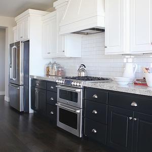 Alice Lane Home Kitchens Black Kitchen Cabinets