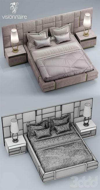 3d Modeli Krovati Krovat Visionnaire Beloved Meuble Chambre