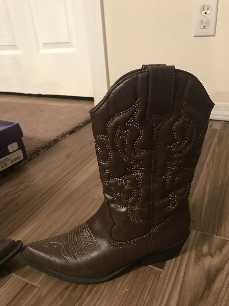 83eb1d90780 Madden Girl Brown Sanguine Cowboy Boots Size 6.5 Women's Cowgirl ...