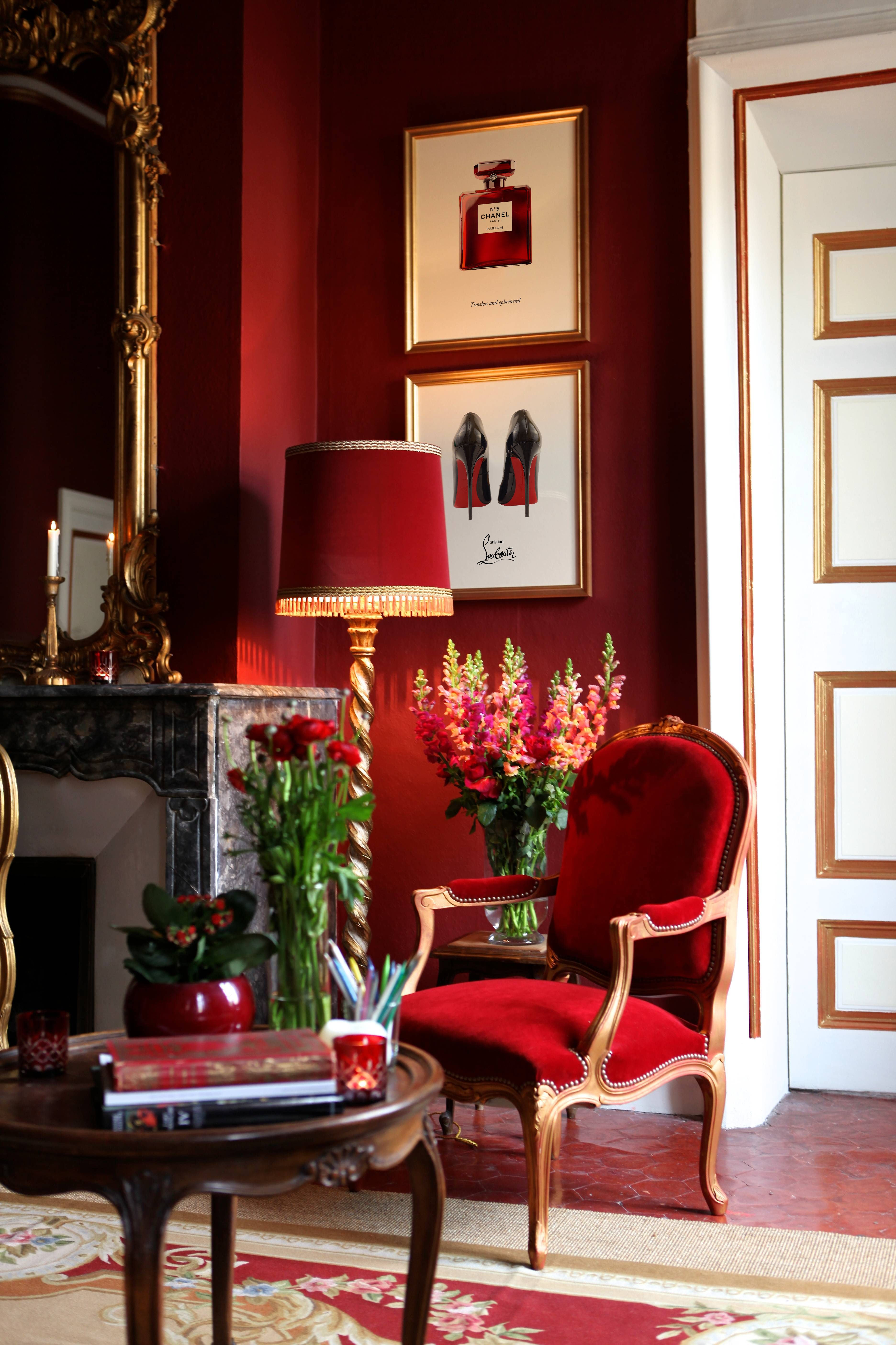 Red Decor Red Fashion Prints Red Interior Design Red Home Decor Living Room Red