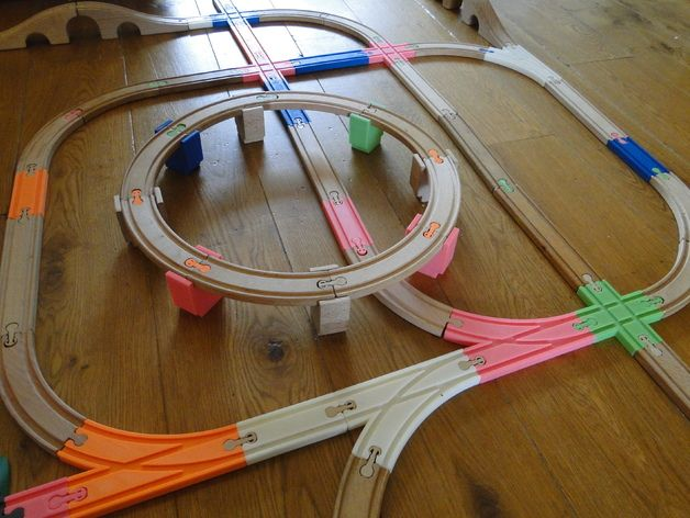 OpenSCAD train track library by srepmub Thingiverse 3d
