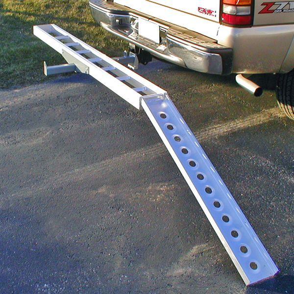 400 lb Black Widow AMC-400 Hitch-Mounted Aluminum Motorcycle Carrier Capacity