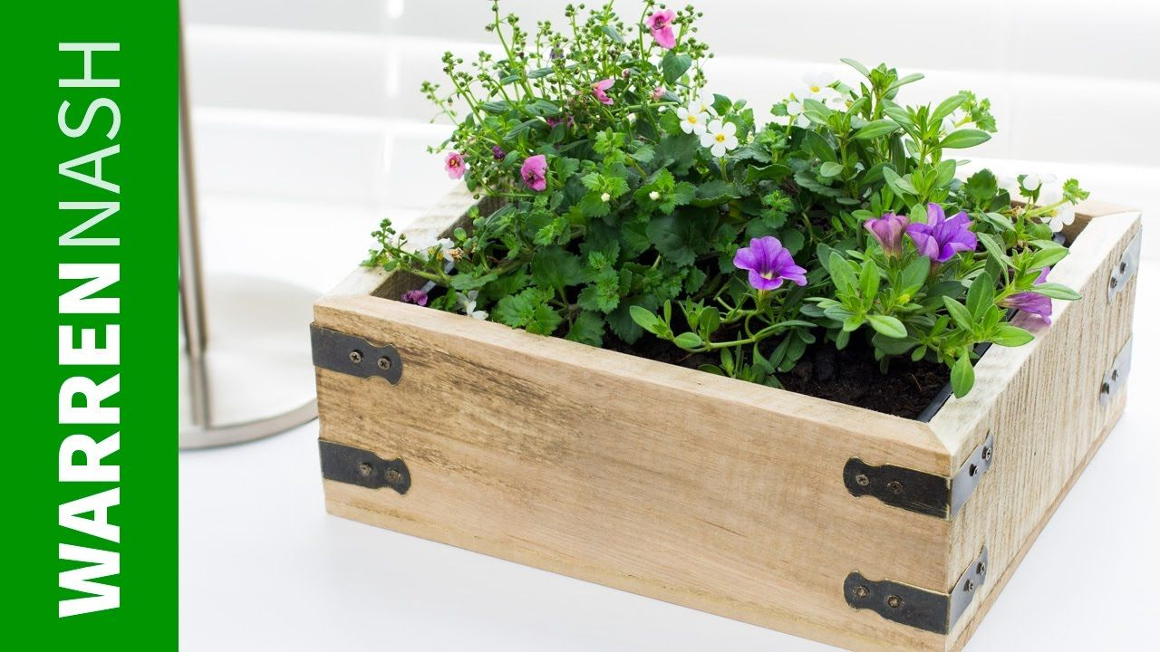 Pallet Planter Box Project Plans Design Easy Diy By