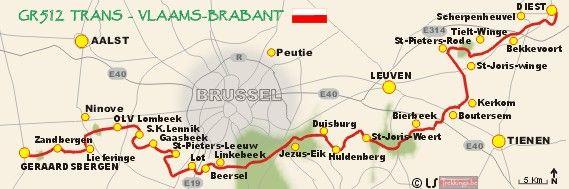 GR 512 Trans Vlaams-Brabant wandelen GR512 wandelinfo