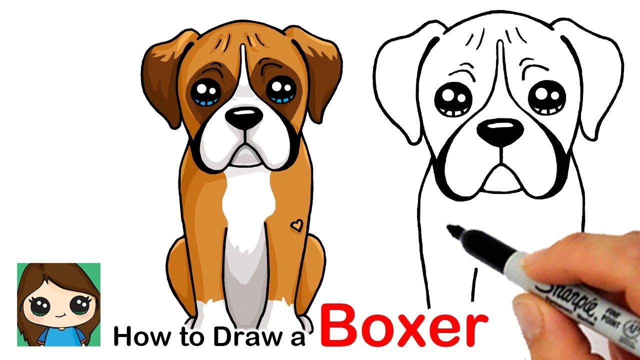 How To Draw A Boxer Puppy Dog Easy Boxers Boxerpix Boxerlove Ilovemyboxer Boxerworld Boxersofig Cartoon Dog Drawing Dog Drawing Simple Puppy Drawing Easy