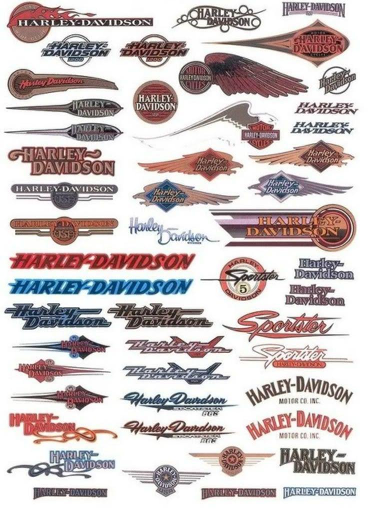 Vintage Harley Davidson Decals