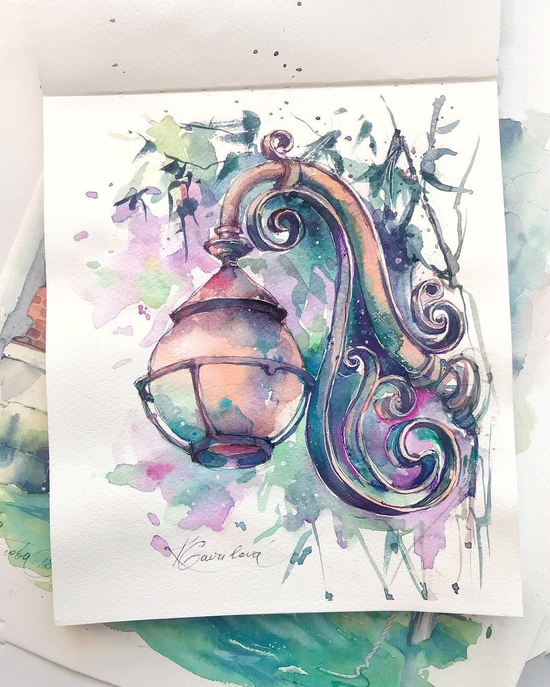 Watercolor Artist On Instagram More Lanterns Bolshe