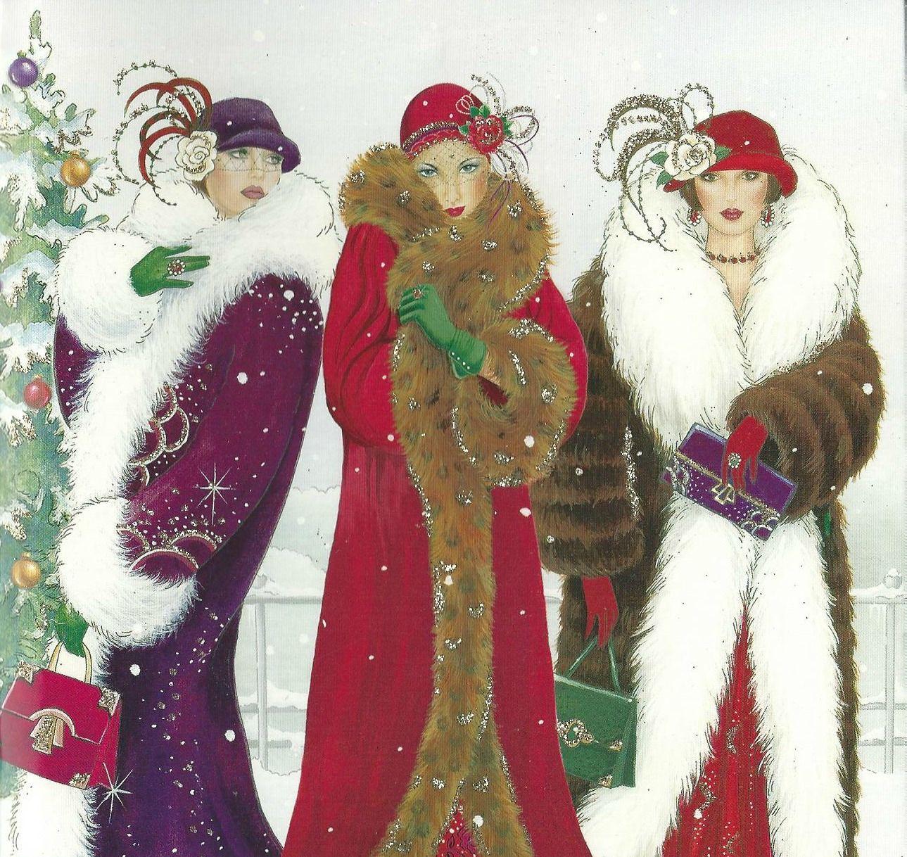 art deco christmas cards - Google Search | Deco Ladies | Pinterest ...