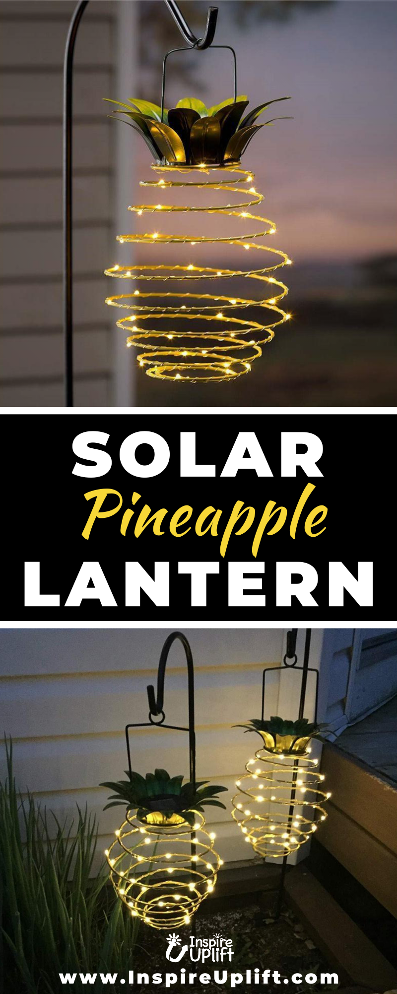 Solar Pineapple Lantern 😍 InspireUplift.com