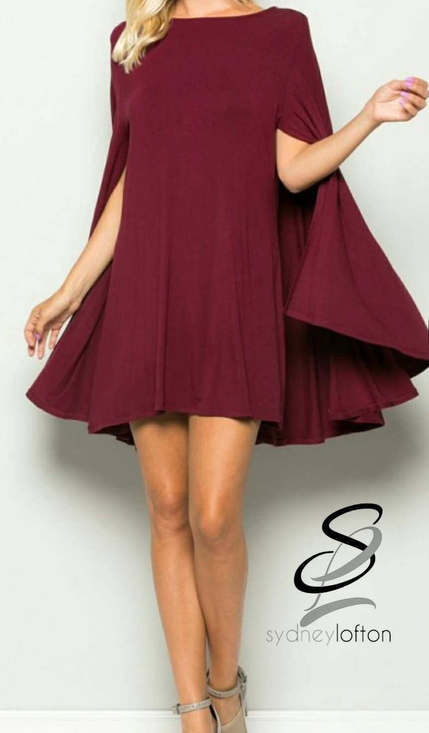 Cape Dress *multiple color options available