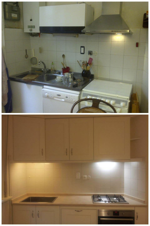 Ristrutturazione di una cucina PRIMA: elettrodomestici diversi e ...