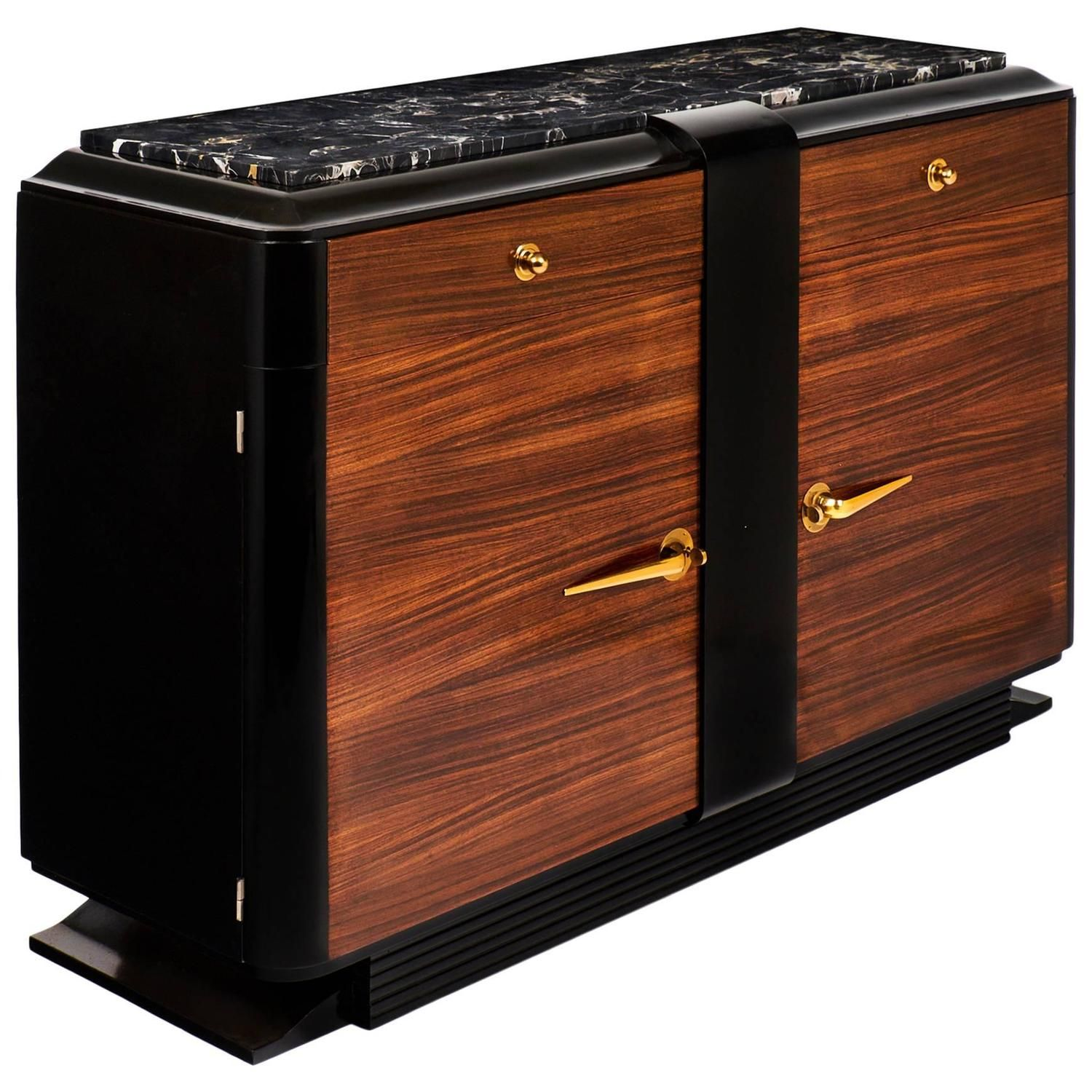 French Art Deco Rosewood Buffet or Bar in the Manner of Andr� Arbus   From a unique collection of antique and modern buffets at https://www.1stdibs.com/furniture/storage-case-pieces/buffets/