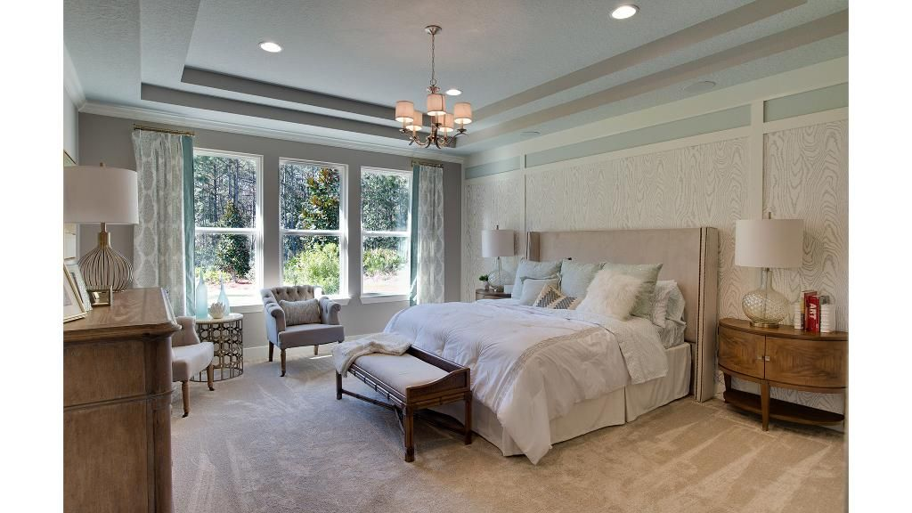 Master Bedroom With Tray Ceiling The San Pablo Floor Plan Drees