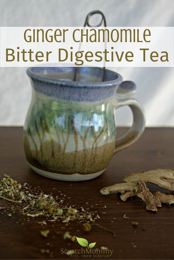 Ginger Chamomile Digestive Tea | A bitter tea to help with digestion!- Scratch Mommy