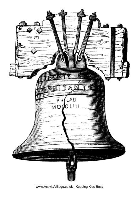 Wk 4 Liberty Bell Coloring Page Coloring Pages Fourth Of July