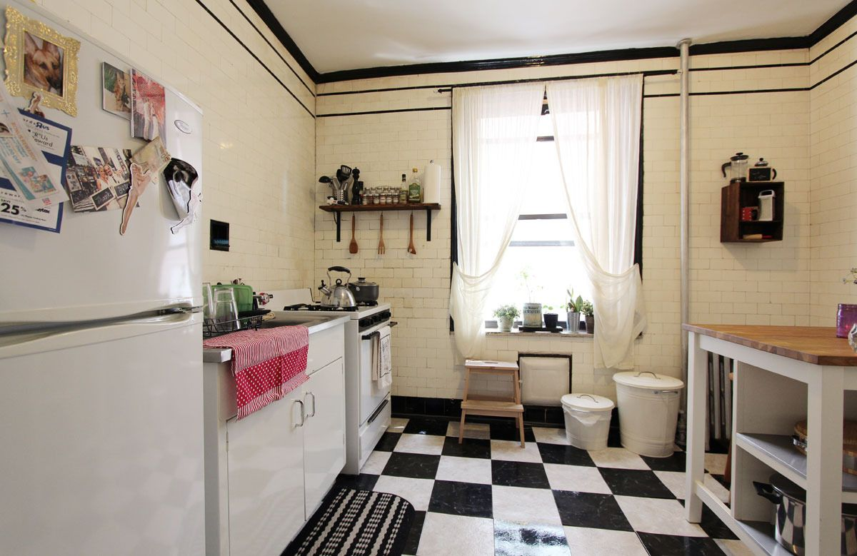 A Vintage Chic Brooklyn Kitchen  Kitchens House Tours And House Cool Brooklyn Kitchen Design Review