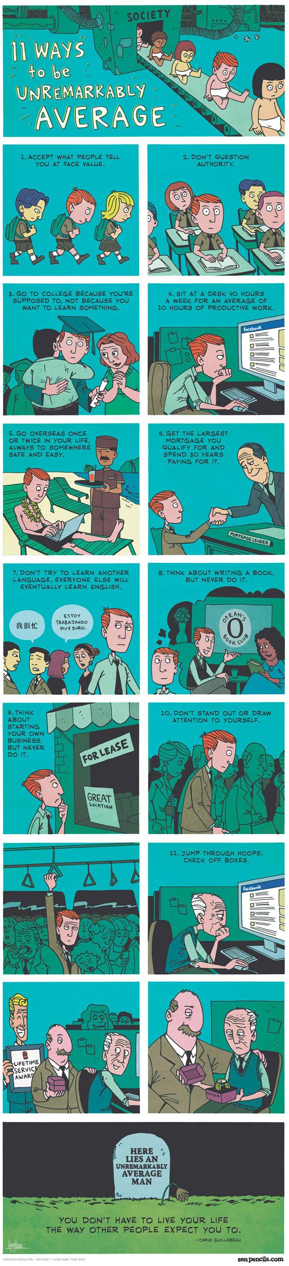 11 leçons pour avoir une vie totalement nulle.