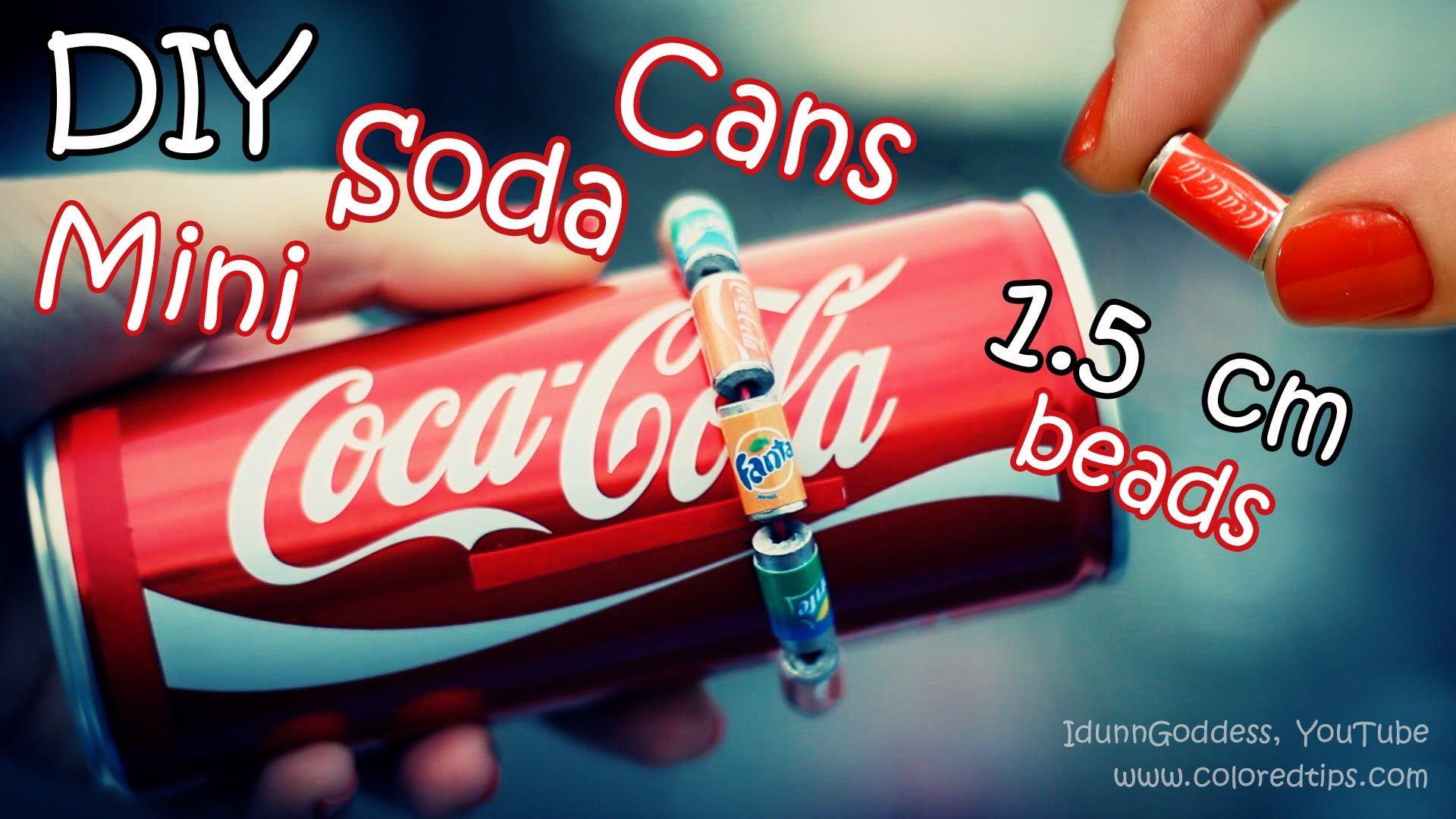 Easy video tutorial of do-it-yourself Tiny Soda Cans Beads made of pencils. You can make a bracelet with these DIY beads, earrings or necklace – whatever! An...