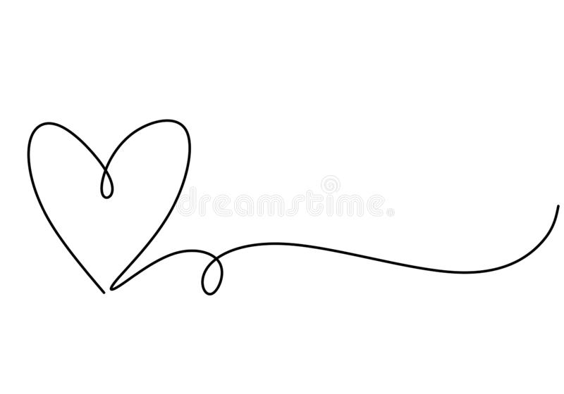 Heart One Line Drawing Symbol Of Love Vector Continuous Hand Drawn Sketch Minimalism Illustration Isolated On Whit How To Draw Hands Love Symbols Line Drawing