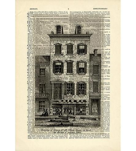 House-demolition-nyc-print-on-vintage-dictionary-paper-1441401161