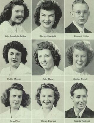 Hair Of 1944 In The Yearbook Of Albany High School In Albany