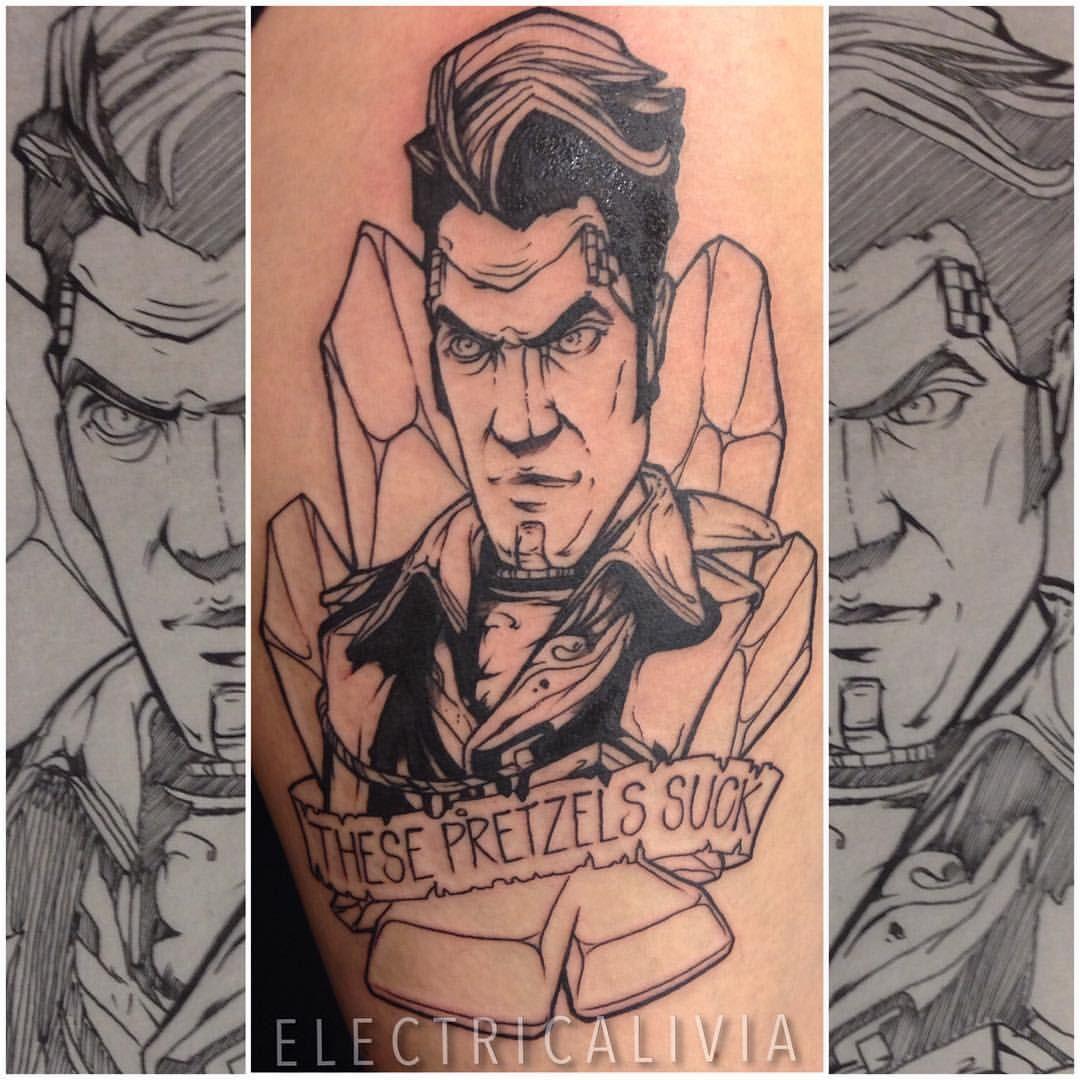 Electricalivia Handsome Jack Borderlands Tattoo Jack Tattoo