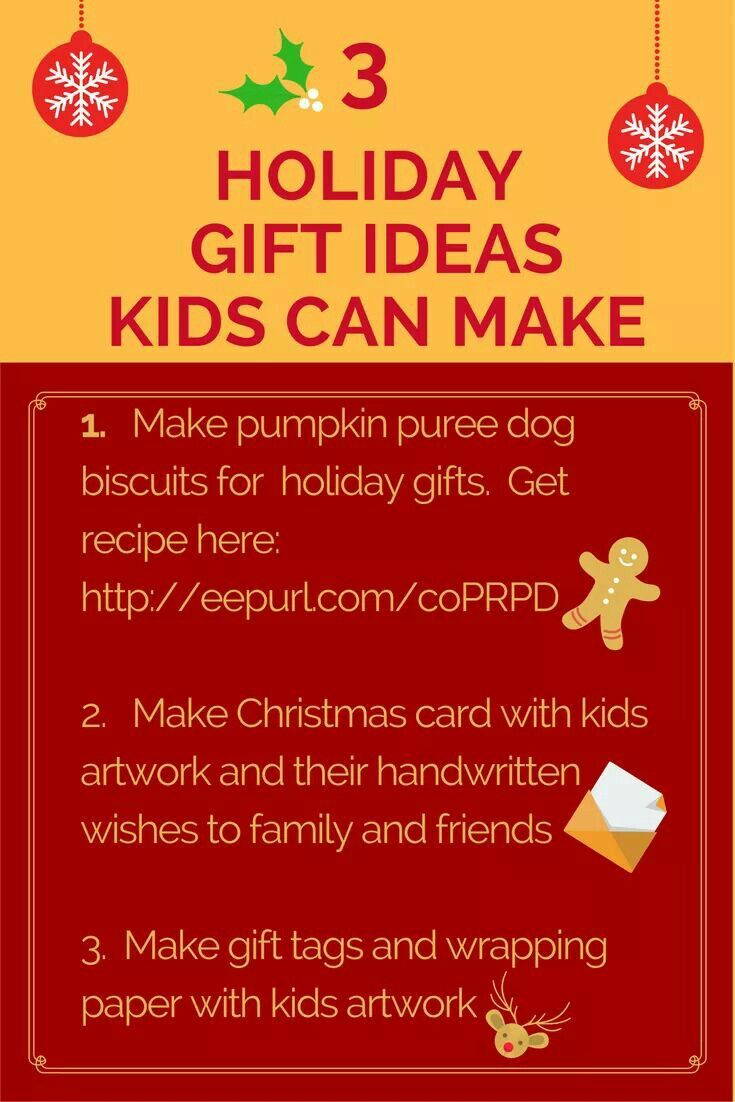 Minimalist Gift Giving Tips to make with children:  1. Make pumpkin puree dog biscuits for holiday gifts. Get recipe here: http://eepurl.com/coPRPD 2. Make Christmas card with kids artwork and their handwritten wishes to family and friends 3. Make gift tags and wrapping paper with kids artwork