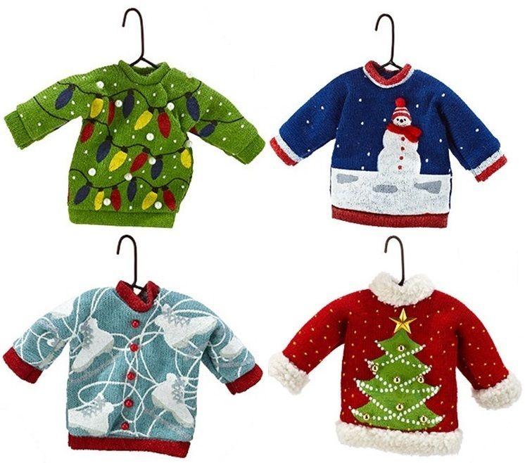 RetroFestive.ca - Ugly Christmas Sweater Ornament Set, $32.99 ...